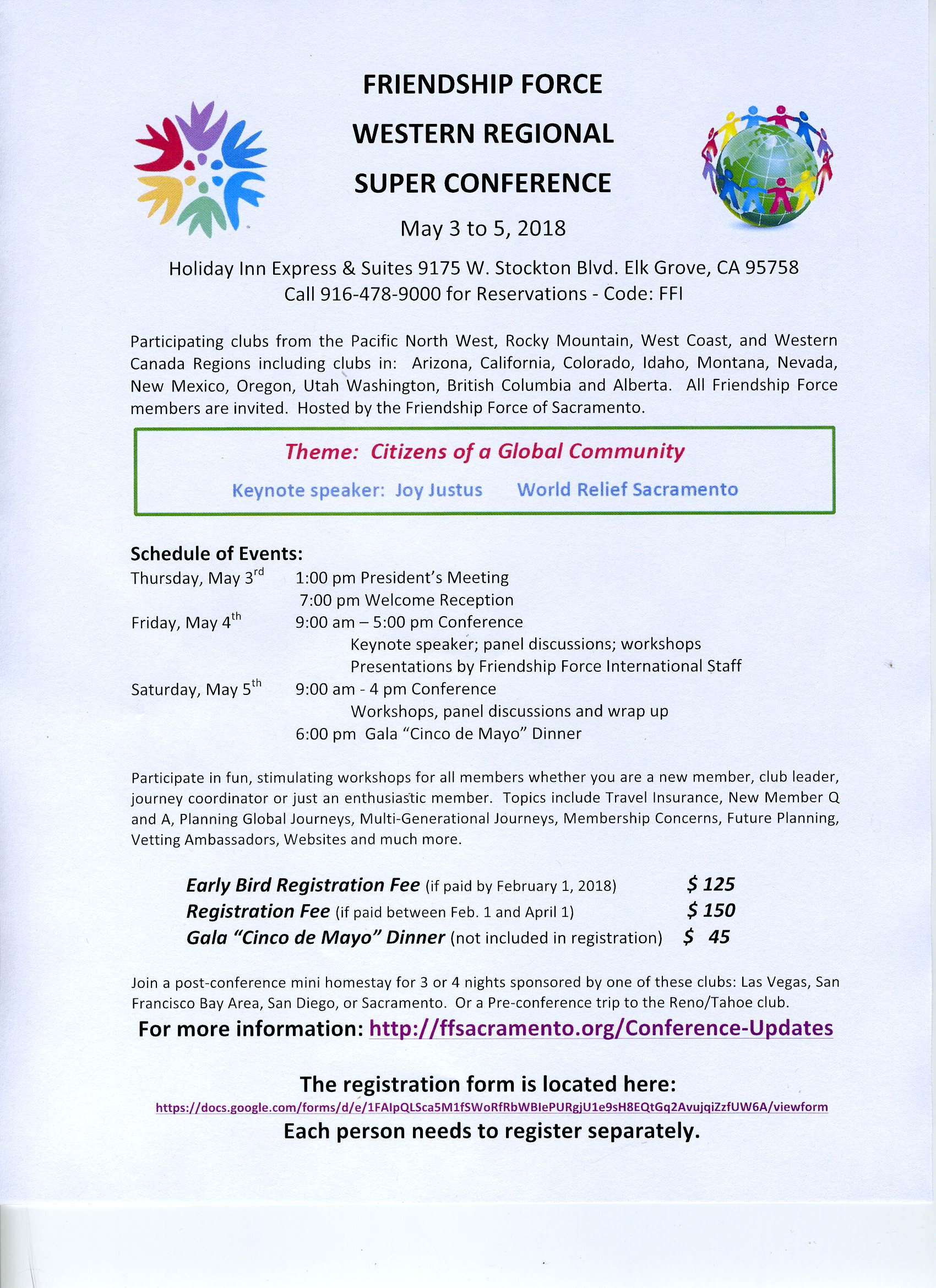May 2018 Conference Flyer